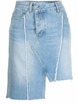 Sjyp джинсовая юбка с бахромой PW2B3NSC109W