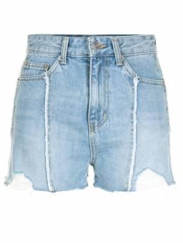 Sjyp джинсовые шорты с бахромой PW2B3NPC109W