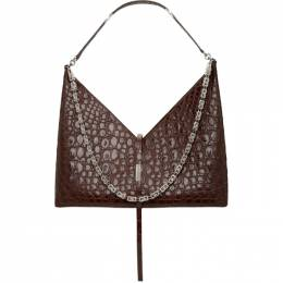 Givenchy Brown Croc Large Cut Out With Chain Bag BB50GZB11W