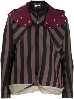 Kiko Kostadinov полосатая куртка с капюшоном KKSS21J035005002J700