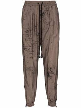 Song For The Mute спортивные брюки с эффектом разбрызганной краски 211MPT074LYOCPPL