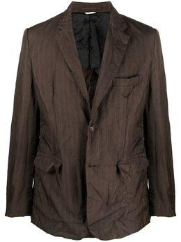 Comme Des Garcons Homme Deux однобортный пиджак с жатым эффектом DGJ032051
