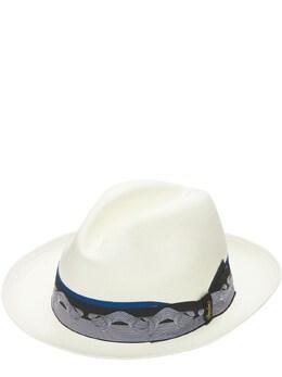 Шляпа Из Жаккарда Fine Pan Borsalino 73I4NE002-NzE0Mg2