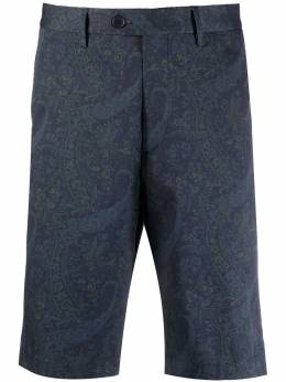 Etro шорты строгого кроя с принтом пейсли 1W6564058
