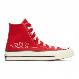 Converse Red Valentines Day Chuck 70 High Sneakers 171117C