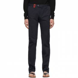 Isaia Navy Slim Chino Trousers PNTS41 XP871