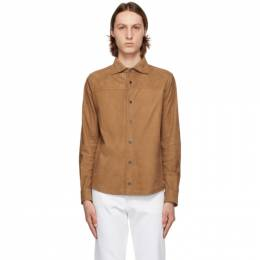 Isaia Brown Suede Shirt Jacket LU0060 PLW16