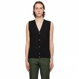 Isaia Black Merino Sweater Vest MG7051 YP005