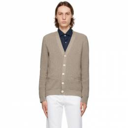 Isaia Beige Cotton Cardigan MG7906 Y0243