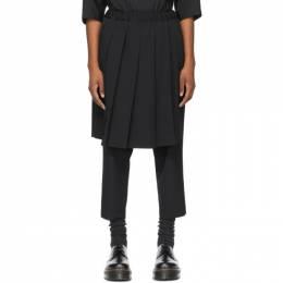 Comme Des Garcons Comme Des Garcons Black Wool Pleated Skirt Trousers RG-P018-051