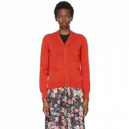 Comme Des Garcons Comme Des Garcons Red Jersey Cardigan RG-N009-051