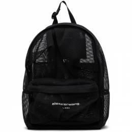 Alexander Wang Black Mesh Wangsport Backpack 20221B11T