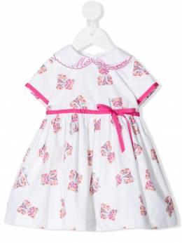 Miss Blumarine платье с вышивкой на воротнике MBL3480