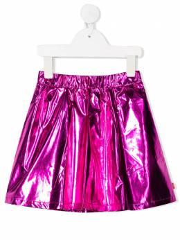 Billieblush расклешенная юбка с эффектом металлик U1325749N