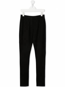Karl Lagerfeld Kids брюки кроя слим с логотипом Z14150