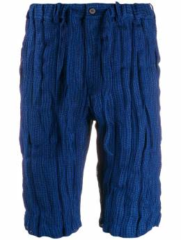 Issey Miyake Pre-Owned шорты бермуды с мятым эффектом MIY269