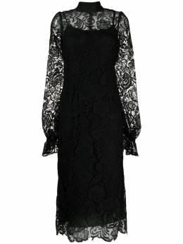 Wandering кружевное платье с высоким воротником WGS21534