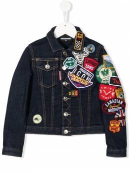 Dsquared2 Kids джинсовая куртка с нашивками DQ0341D006L