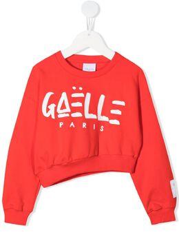 Gaelle Paris Kids толстовка асимметричного кроя с логотипом 2746F0428