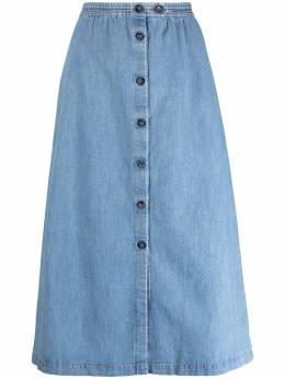 A.P.C. юбка A-силуэта с пуговицами COEOKF06300