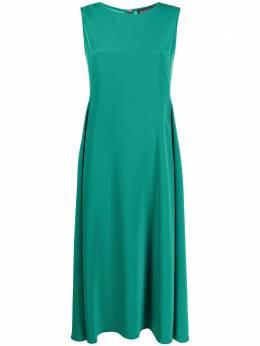 Gianluca Capannolo плиссированное платье миди без рукавов 21EA1173300