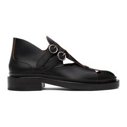 Jil Sander Black Leather Antick Loafers JS36101A_13050