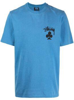 Stussy футболка Club с логотипом 1904670
