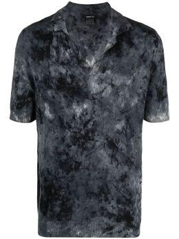 Avant Toi кашемировая рубашка поло с абстрактным принтом 221U2053CLIVC