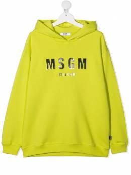 MSGM Kids худи с тисненым логотипом MS027388