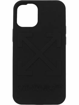Off-White чехол для iPhone 12 Mini с тиснением Arrow OMPA025R21PLA0081001