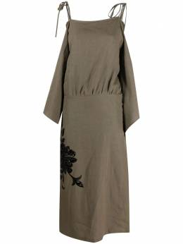 Erika Cavallini платье-трапеция макси с пайетками p1so06