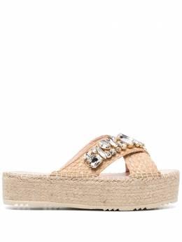 Manebi плетеные сандалии с кристаллами G51PS