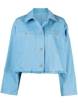 MSGM укороченная джинсовая куртка 3042MDH101217309