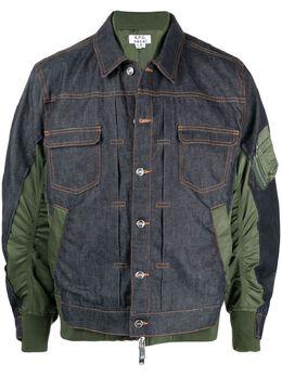 A.P.C. джинсовая куртка со вставками M02660PAADX