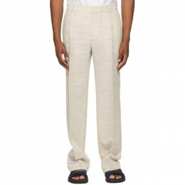 Botter Off-White Classic Pleat Trousers 5000 W050 BEIGE