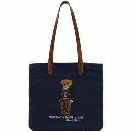 Polo Ralph Lauren Navy Polo Bear Tote 405819539001