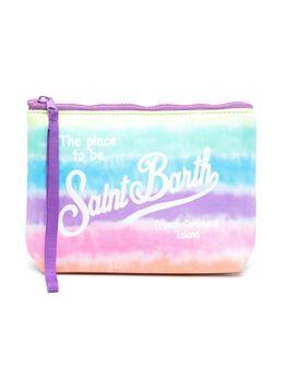 Mc2 Saint Barth Kids клатч с логотипом и принтом тай-дай ALINE