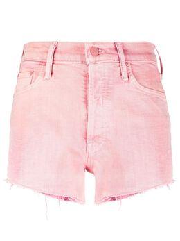 Mother джинсовые шорты с эффектом потертости 4332544