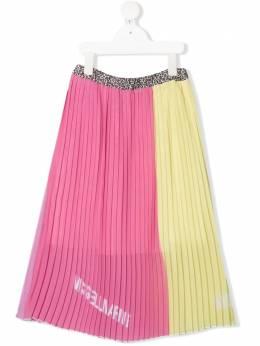 Miss Blumarine плиссированная юбка в двух тонах MBL3633