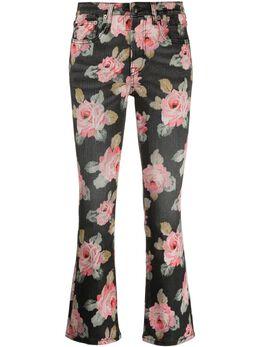 R13 укороченные брюки с цветочным принтом R13W0009320