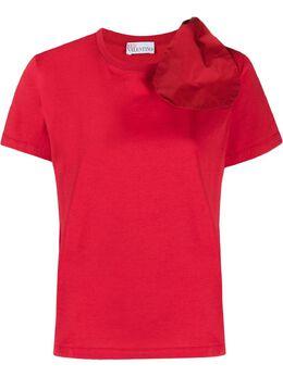 Red Valentino футболка с бантом VR0MG09U5WF