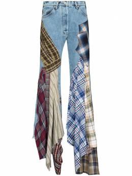 Natasha Zinko расклешенные джинсы в технике пэчворк SS213108733DENIMCOTTON