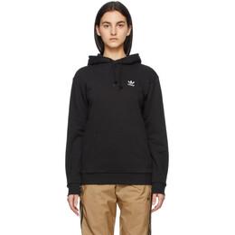 Adidas Originals Black Trefoil Essentials Hoodie FM9956