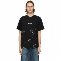 Neighborhood Black Drip C T-Shirt 211PCNH-ST20