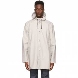 Stutterheim Beige Lightweight Stockholm Raincoat 1831