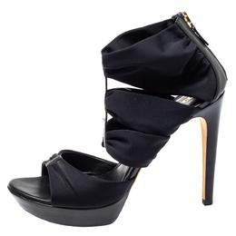 Fendi Black Fabric Strappy Sandals Size 39 403147