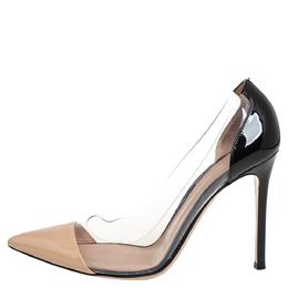 Gianvito Rossi Two Tone Patent Leather and PVC Plexi Pumps Size 38.5 404553