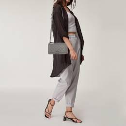 Chanel Grey Quilted Leather Medium Boy Flap Bag 406299