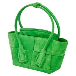 Bottega Veneta Green Suede Acro Tote Bag 406347