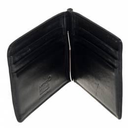 Montblanc Black Leather Meisterstück Money Clip Wallet 6CC 406723